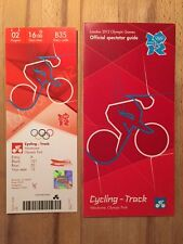 LONDON 2012 TICKET CYCLING TRACK HOY KENNY HINDES GOLD 02 AUG & SPECTATOR GUIDE