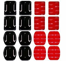 8pcs Flat & Curved Mounts & 3M Adhesive Sticky Mount GoPro HD & Hero 1 2 3+ 4