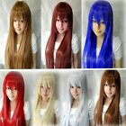 80cm Fashion Women Lady Long Straight Hair Anime Party Cosplay Costume Full Wigs