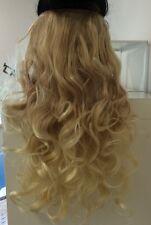 """Clip In Hair Extnesions 20"""" Dip Dye Ombre Blonde 613 C"""