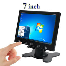 """7"""" LCD CCTV Monitor HD Screen AV/HDMI 1080P Video for Home Security PC Camera"""