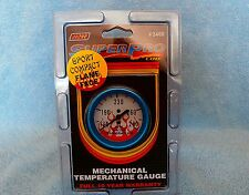 Super Pro Mechanical Water Temperature Gauge #3466  Blue Bezel 2 &1/16""