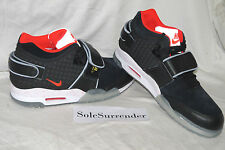 Nike Air Trainer Victor Cruz QS - SIZE 9.5 - NEW - 821955-001 Black Crimson Red