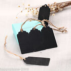 30pcs Mini Wooden Chalkboard Blackboard Gift Tags Labels Jute Tie Place Card HB