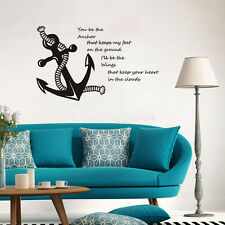 You Be The Anchor Quote Home Removable Vinyl Wall Sticker Nautical Art Decal