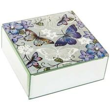 Botanical Colourful Butterfly Square Jewellery Box New Boxed 55134