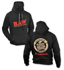 RAW BLACK HOODIE WITH CUSTOM RAW POKER STRINGS (XL) - Limited Edition