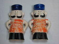 Vintage Ceramic Salt Pepper Shaker set Japan Band Leader Mario Director Marching