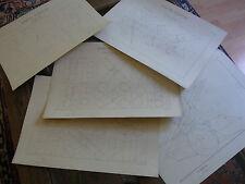 N04 4 planches dessin XIXème Ecole Nat Arts & métiers Aix Géométrie Barthas