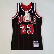 100% Authentic Michael Jordan Mitchell & Ness Pinstripe 95 96 Bulls Jersey 36 S