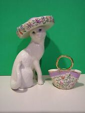 LENOX SUNDAY BEST Two Piece CAT Sculpture set NEW in BOX with COA Kitten