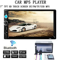 "Double 2 Din 7"" In Dash Stereo Car MP5 Player Bluetooth Radio iPod FM/SD/USB TV"