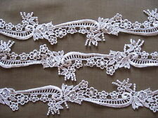 """1 1/2"""" LOVELY OFF-WHITE SCROLL AND FLORAL RAYON VENISE LACE."""