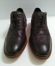 Cole Haan Colton Leather Mens US 8 Brown Wingtip Oxford Lace Shoes Dress/Casual