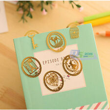 6pcs Korean Mini Reading Gold Metal Clip Bookmark Gift Book Mark Label For Kids