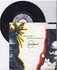 "Soul II Soul, Back to life, A/VG,  7"" Single 999-109"