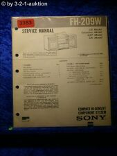 Sony Service Manual FH 209W Compact Component System (#3353)