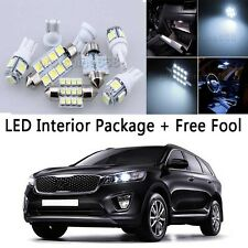 7X Bulb Car SMD LED Interior Lights Package kit For 2014-up KIA Sorento White NQ