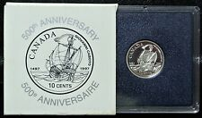 1497-1997 CANADA 10 CENTS - DIME - .925 SILVER PROOF - 500th Anniversary - Cabot