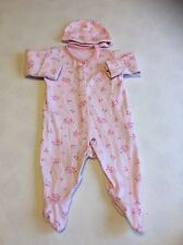 Girls Babygrows 0-3 Months - Pretty  Baby Grow Sleepsuit & Hat