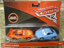 DISNEY PIXAR CARS 3 LIGHTNING MCQUEEN & SALLY NEW PACKACHAGE SHIP WORLDWIDE