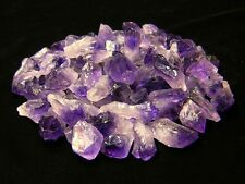 500 Cts Amethyst Points & Pieces 1/4 Lb Lots Natural Dark Purple Crystal Uruguay