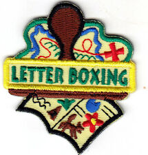 """LETTERBOXING"" -  Iron On Embroidered Patch - Hobby - Game - Treasure Hunting"