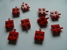Lego 10 essieux plats rouges set 6549 6687 6356 6563 / 10 red plate modified