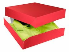 "Red High Gloss Apparel Box X-mas Gift Present Wrap,15""x 9.5""x 2"" Pack of 10"