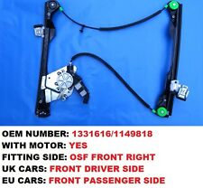 FRONT RIGHT SIDE 2/3 DOORS WINDOW REGULATOR WITH MOTOR FOR FORD FOCUS MK1
