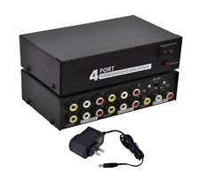 RCA 4Way 1x4 1 In 4 Out Audio Video Composite Distribution Amplifier Splitter