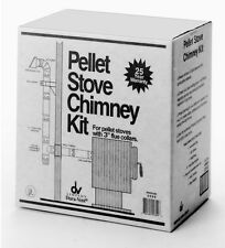 Double Wall Chimney Dura-Vent Black and Silver 3-in Pellet Stove Vent Kit New