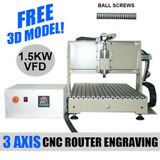 Mach3 3axis 6040 CNC Router Engraver 1.5KW Drilling/Milling Carving Machine SALE