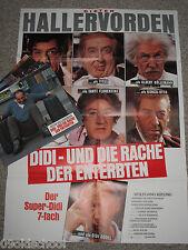 Didi und die Rache der Enterbten - 15 Fotos KINOPLAKAT A1 - Dieter Hallervorden