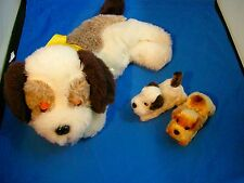 Mama & Pups Happy Dog Family Vintage Battery Operated Japan 1960s Alps Works Box