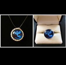 Pokemon Go Team Mystic Necklace And Ring Jewelry Set
