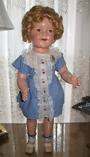 "♚ 1930's BEAUTIFUL 25"" Ideal Composition "" CHERRIES "" Shirley Temple Doll"