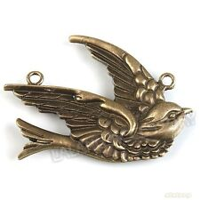 8x 142167 New Charms  Alloy Swallow Charms Bronze Connector Pendants Findings
