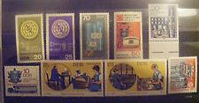 T010 -  ITU/UIT - 9 briefmarken (DDR)