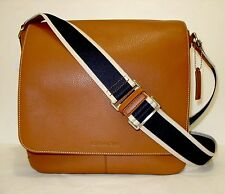 New Coach 70555 Mens HERITAGE Leather Crossbody Messenger Shoulder Bag Saddle