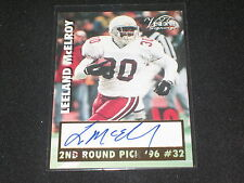 LEELAND MCELROY 1997 ROOKIE FOOTBALL LEGEND HAND SIGNED AUTOGRAPHED CARD RARE