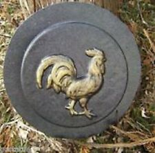 GOSTATUE concrete plaster mold abs plastic rooster stepping stone mould