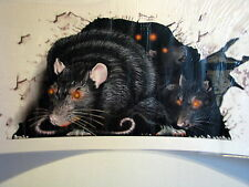 Halloween Decoration Prop Giant Rats Wall Cling Sticker