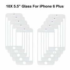 """Lot Of 10 Pcs Front Outer Screen Glass Lens For iPhone 6 Plus 5.5"""" White/Black"""
