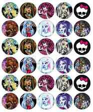 Monster High Cupcake Toppers Edible Wafer Paper BUY 2 GET 3RD FREE!