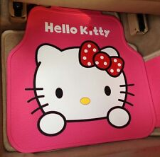 *** Pink Big Face Hello Kitty Waterproof Car Mats ***