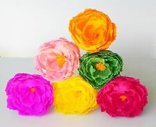 """Mexican Crepe Paper Flowers Set of 6 Multicolor """"Peonis"""" """"I Make Special Orders"""""""