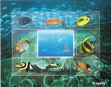 Volksrepublik China 2978-2985 Kleinbogen (kompl.Ausg.) gestempelt 1998 Fische de