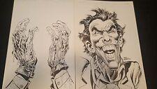 Original Neal Adams Art Salvation Run #7 Joker Cover Pin Up Splash Pages