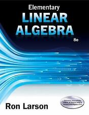 Instructors 8th Edition Elementary Linear Algebra by Ron Larson BRAND NEW